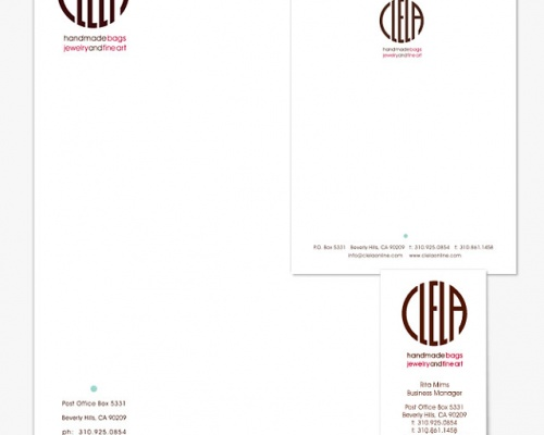 CLELA ACCESSORY DESIGN<p> Identity + Print Design | Los Angeles