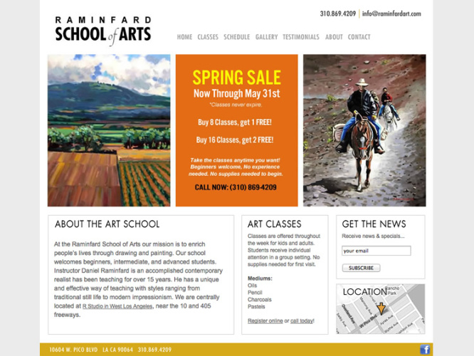 Raminfard School of Arts | Web