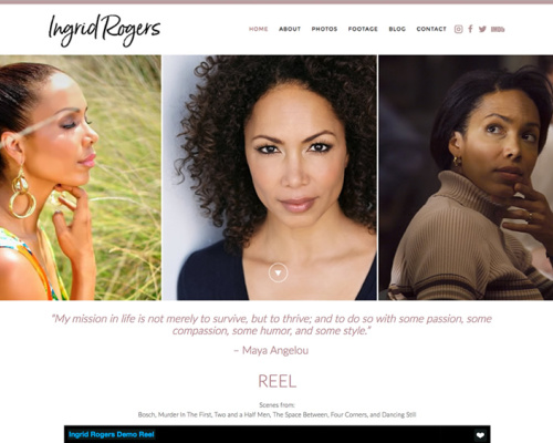 INGRID ROGERS<br>Actor Website | Los Angeles