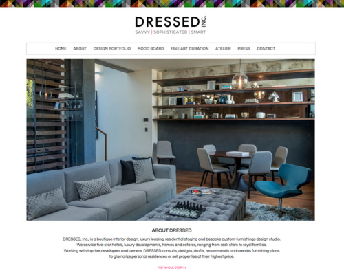 DRESSED INTERIOR DESIGN<br>Web Design | Los Angeles/Park City
