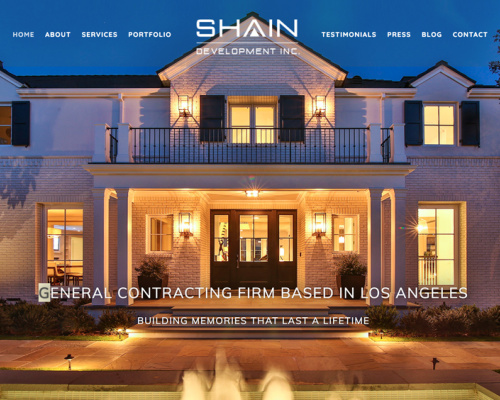 SHAIN DEVELOPMENT<br>Web Design | Los Angeles