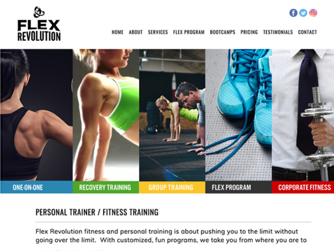 FLEX REVOLUTION<br>Web Design | Long Beach, CA