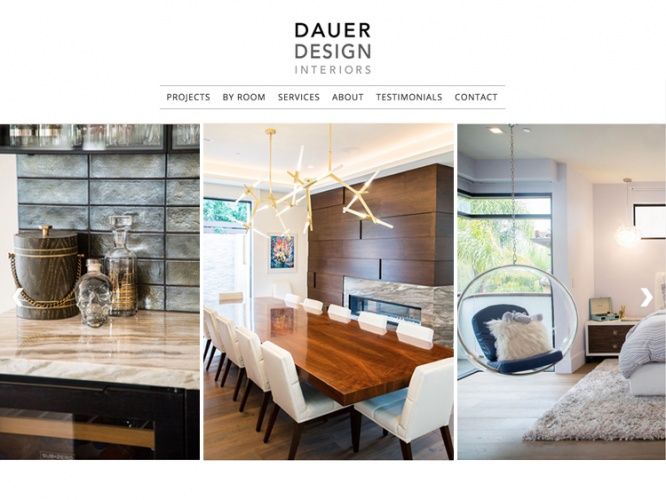DAUER DESIGN INTERIORS<br>Web Design | Culver City, CA