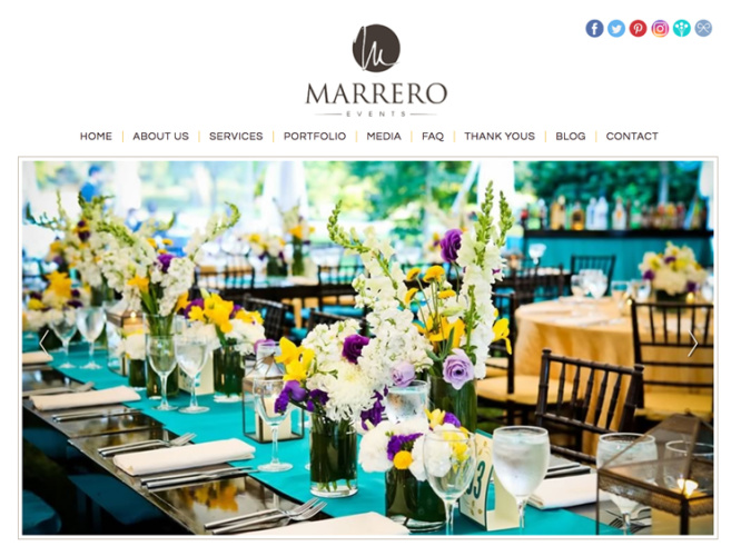 MARRERO EVENTS<br>Web Design | Boston, MA