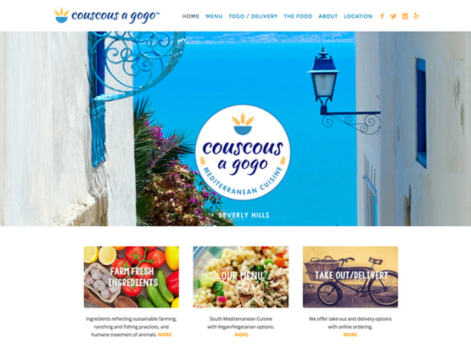 COUSCOUS A GOGO<br>Website Design | Beverly Hills, CA