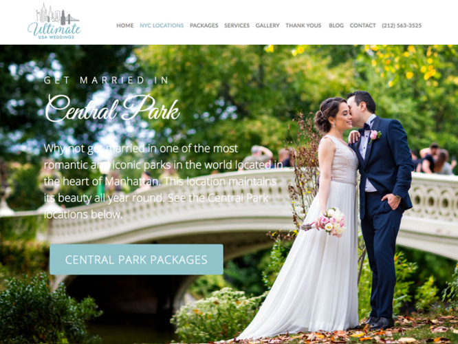 ULTIMATE WEDDINGS<br>Web Design | NYC