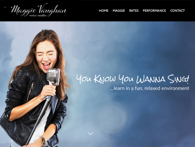 MAGGIE VAUGHAN VOICE STUDIO<br>Web Design | Redondo Beach, CA